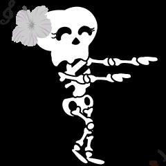Boonme skeleton (step dance) - Animated