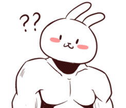 Muscle Animal (Rabbit) sticker #13861073