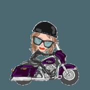สติ๊กเกอร์ไลน์ I LOVE American Motorcycle!! For Lady2