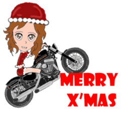 I LOVE American Motorcycle!! for X'mas 2 sticker #13865264