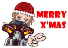 I LOVE American Motorcycle!! for X'mas 2 sticker #13865268