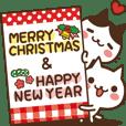 動く♪ ねこの缶詰め【クリスマス&お正月】 - クリエイターズスタンプ