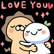 สติ๊กเกอร์ไลน์ Lailai & Chichi Happy Valentine's Day