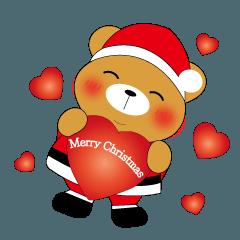 Shy Bobby Bear -Merry Christmas