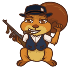 Sundrick the Squirrel sticker #13886681
