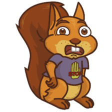 Sundrick the Squirrel sticker #13886693