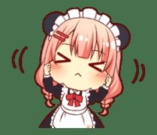 Panda maid girl animated sticker #13887194