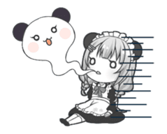 Panda maid girl animated sticker #13887196