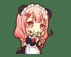 Panda maid girl animated sticker #13887198