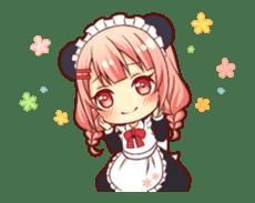 Panda maid girl animated sticker #13887199