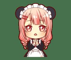 Panda maid girl animated sticker #13887200