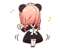 Panda maid girl animated sticker #13887202