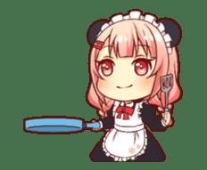 Panda maid girl animated sticker #13887203
