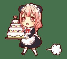 Panda maid girl animated sticker #13887205