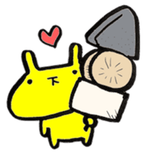 yellow rabbit Special Edition in winter sticker #13890601