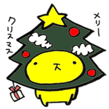 yellow rabbit Special Edition in winter sticker #13890610