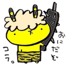 yellow rabbit Special Edition in winter sticker #13890628