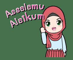 Lovely Hijab Girl Animation sticker #13896110