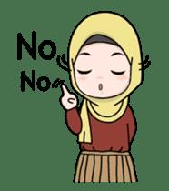 Lovely Hijab Girl Animation sticker #13896111