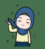 Lovely Hijab Girl Animation sticker #13896113