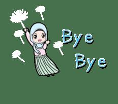 Lovely Hijab Girl Animation sticker #13896115