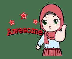 Lovely Hijab Girl Animation sticker #13896116