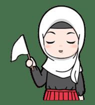 Lovely Hijab Girl Animation sticker #13896118