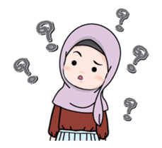 Lovely Hijab Girl Animation sticker #13896119