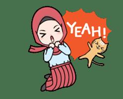 Lovely Hijab Girl Animation sticker #13896121