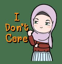 Lovely Hijab Girl Animation sticker #13896124