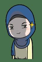 Lovely Hijab Girl Animation sticker #13896125