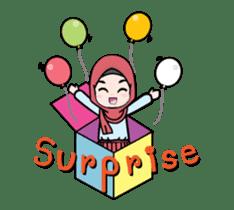 Lovely Hijab Girl Animation sticker #13896126