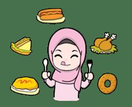 Lovely Hijab Girl Animation sticker #13896127
