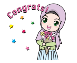 Lovely Hijab Girl Animation sticker #13896130