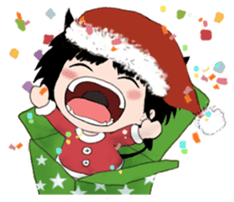 B&Y-Happy Christmas (English version) sticker #13917345