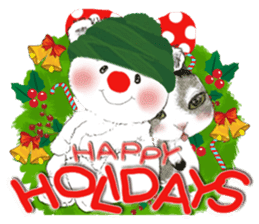 B&Y-Happy Christmas (English version) sticker #13917355