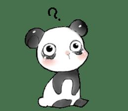 Naughty cute panda sticker #13945790