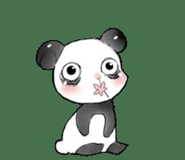 Naughty cute panda sticker #13945791