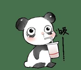 Naughty cute panda sticker #13945796
