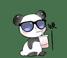 Naughty cute panda sticker #13945797