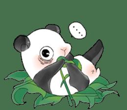 Naughty cute panda sticker #13945800