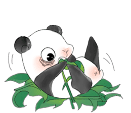 Naughty cute panda sticker #13945801