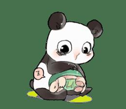 Naughty cute panda sticker #13945802