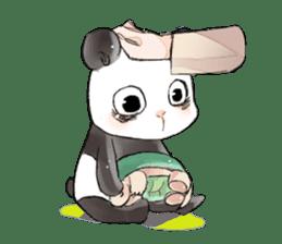 Naughty cute panda sticker #13945803