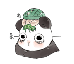 Naughty cute panda sticker #13945804