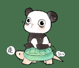 Naughty cute panda sticker #13945805