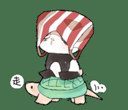 Naughty cute panda sticker #13945806