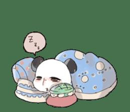 Naughty cute panda sticker #13945807