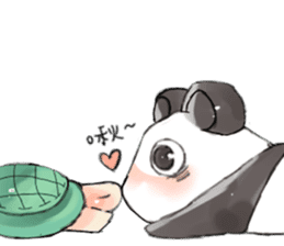 Naughty cute panda sticker #13945808