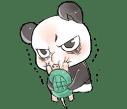 Naughty cute panda sticker #13945809